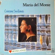 Discos de vinilo: LP MARÍA DEL MONTE. Lote 147316218