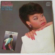 Discos de vinilo: DENIECE WILLIAMS - LET'S HEAR IT FOR THE BOY - 1984. Lote 147317090