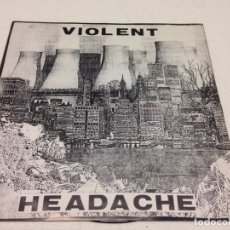 Discos de vinilo: POSITI CAUSTICO / VIOLENT HEADACHE – SPLIT EP-GRIND CORE. Lote 147332350