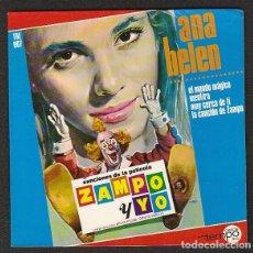 Discos de vinilo: ANA BELEN:ZAMPO Y YO-PORTADA SOLA SIN DISCO-LAMINADA- NUEVA. Lote 147333506