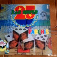 Discos de vinilo: DOBLE LP DE PARCHIS LOS SUPER 25 TEMAS DE SERIES DE LOS 80 DOS DISCOS. Lote 147341034