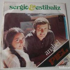 Discos de vinilo: SERGIO Y ESTIBALIZ, ANABEL / PIEL, SINGLE 7'', 1974, NOVOLA. Lote 147342890