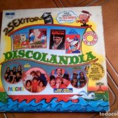 Discos de vinilo: DOBLE LP DISCOLANDIA SERIES DE TV AÑO 1980. Lote 147344258
