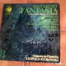 Discos de vinilo: LP BANDA SONORA DE LA PELICULA FANTASIA DE WALT DISNEY. Lote 147345142
