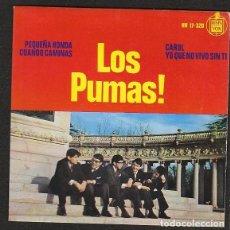 Discos de vinilo: LOS PUMAS: CAROL + 3- PORTADA SOLA - SIN DISCO-IMPECABLE- POP ESPAÑOL DE LOS 60'S RARISIMO. Lote 147349970