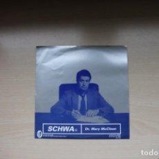 Discos de vinilo: SCHWA – DR. MARY MCCLEAN - ELEFANT RECORDS. Lote 147357934