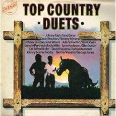 Discos de vinilo: TOP COUNTRY DUETS - LP 1974 - ED. GB. Lote 147362070