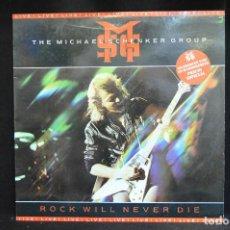 Discos de vinilo: MSG - THE MICHAEL SCHENKER GROUP - ROCK WILL NEVER DIE - LP. Lote 163075982