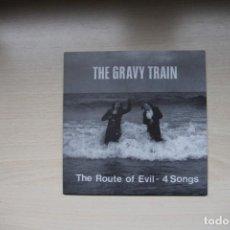 Discos de vinilo: THE GRAVY TRAIN – THE ROUTE OF EVIL - 4 SONGS - ELEFANT RECORDS ER-128. Lote 147365182