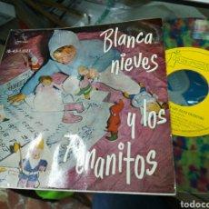 Discos de vinilo: BLANCANIEVES Y LOS 7 ENANITOS SI GLE CUENTO 1960. Lote 147365397