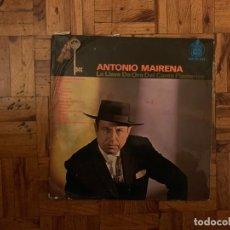 Discos de vinilo: ANTONIO MAIRENA ?– LA LLAVE DE ORO DEL CANTE FLAMENCO SELLO: HISPAVOX ?– HH 10-251 FORMATO: VINYL. Lote 147365782