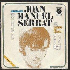 Discos de vinilo: JOAN M. SERRAT: PROMOCIONAL-NOVOLA 1969- VEA DESCRIPCION-TIEMPO DE LLUVIA. Lote 147373322