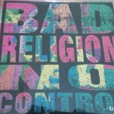 Discos de vinilo: BAD RELIGION NO CONTROL LP 1989 U.S.A CON INSERTO. Lote 147375358