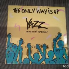 Discos de vinilo: YAZZ AND THE PLADTIC POPULATION-THE ONLY WAY IS UP.MAXI ESPAÑA. Lote 147375950