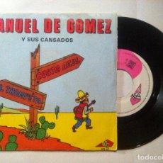 Discos de vinilo: MANUEL DE GOMEZ Y SUS CANSADOS - COSTA AZUL / EL TROMPETA - SINGLE FRANCES 1969 - DISC AZ. Lote 147383510