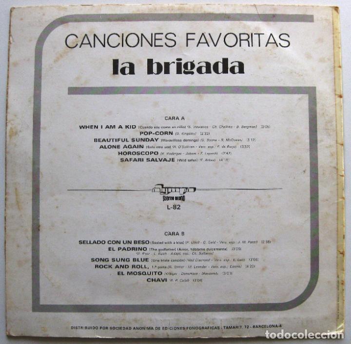 Discos de vinilo: La Brigada - Canciones Favoritas - LP Olympo 1974 BPY - Foto 2 - 147384786