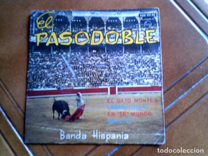 DISCO EL PASODOBLE BANDA HISPANIA AÑO 1963 (Música - Discos de Vinilo - EPs - Flamenco, Canción española y Cuplé)