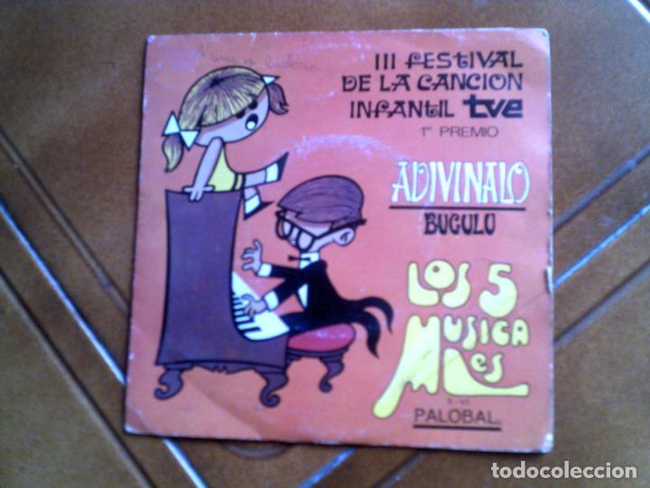 DISCO FESTIVAL DE LA CANCION INFANTIL LOS 5 MUSICALES AÑO ,1969 (Música - Discos - Singles Vinilo - Música Infantil)