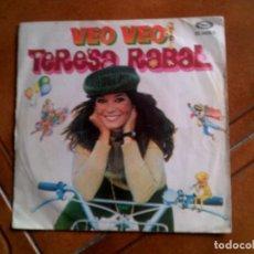 Discos de vinilo: DISCO DE TERESA RABAL VEO,VEO AÑO 1980. Lote 147398510