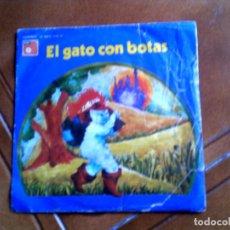 Discos de vinilo: DISCO CUENTO EL GATO CON BOTAS. Lote 147399434