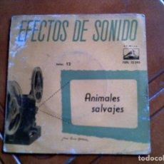 Discos de vinilo: DISCO ,EFECTOS DE SONIDO ,ANIMALES SALVAJES. Lote 147399710