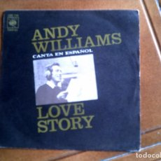 Discos de vinilo: DISCO DE ANDY WILLIAMS ,TEMA DE LOVE STORY. Lote 147400066