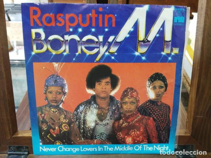 BONEY M. - RASPUTIN, NEVER CHANGE LOVERS IN THE MIDDLE OF THE NIGHT - SINGLE DEL SELLO ARIOLA 1978 (Música - Discos - Singles Vinilo - Jazz, Jazz-Rock, Blues y R&B)