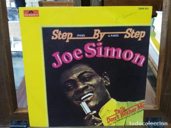 JOE SIMON - STEP BY STEP - SINGLE DEL SELLO POLYDOR 1973 (Música - Discos - Singles Vinilo - Jazz, Jazz-Rock, Blues y R&B)