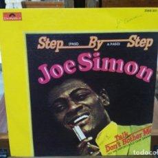 Discos de vinilo: JOE SIMON - STEP BY STEP - SINGLE DEL SELLO POLYDOR 1973. Lote 147441554