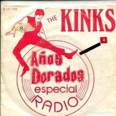 Discos de vinilo: THE KINKS / SUNNY AFTERNOON / MEDLEY (SINGLE PROMO ESPECIAL AÑOS DORADOS 1980). Lote 147442106