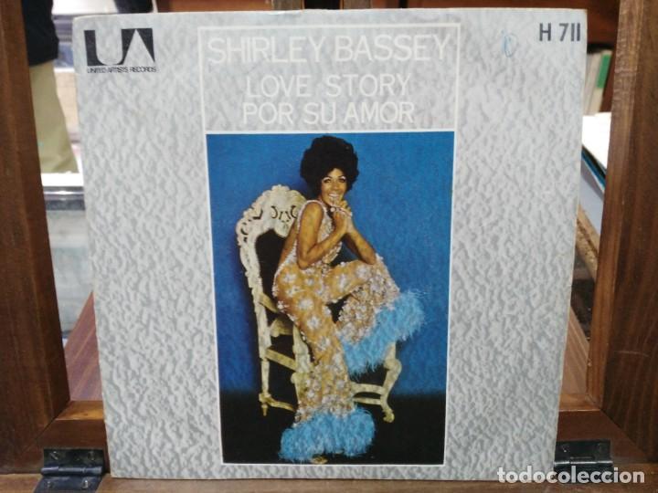 SHIRLEY BASSEY - LOVE STORY, POR SU AMOR - SINGLE DEL SELLO UNITE ARTISTS RECORDS 1971 (Música - Discos - Singles Vinilo - Jazz, Jazz-Rock, Blues y R&B)