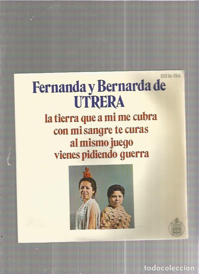 FERNANDA Y BERNARDA UTRERA AL MISMO JUEGO (Música - Discos de Vinilo - EPs - Flamenco, Canción española y Cuplé)
