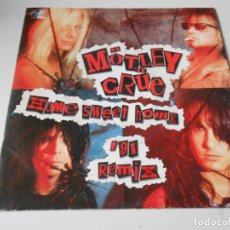 Dischi in vinile: MÖTLEY CRUE, SG, HOME SWEET HOME (91 REMIX) + 1, AÑO 1991 MADE IN GERMANY. Lote 147445378