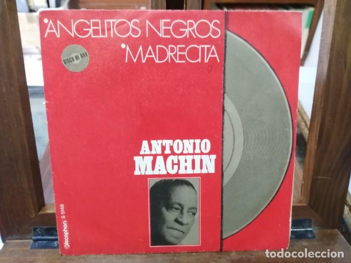 Discos de vinilo: Antonio Machín - Angelitos Negros, Madrecita - Single del Sello Discophon 1971 - Foto 1 - 147449398