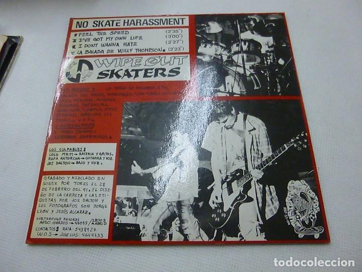 Discos de vinilo: WIPE OUT SKATERS EP SUBTERFUGE 1991 NO SKATE HARASSMENT feel the speed +3 PUNK HARDCORE-N - Foto 2 - 147450982