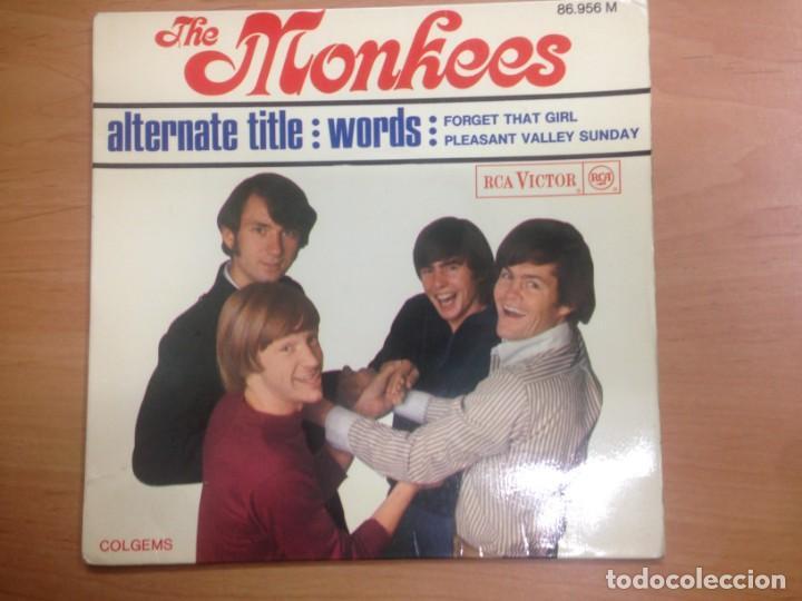 EP THE MONKEES /ALRENATE TITTLE /WORDS /FORGET THAT GIRL / PLEASANT VALLEY SUNDAY EDICION FRANCESA (Música - Discos de Vinilo - EPs - Pop - Rock Extranjero de los 50 y 60)