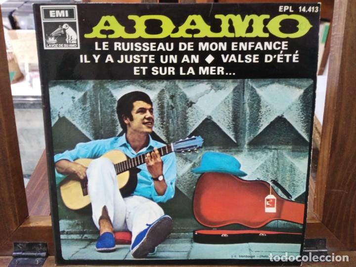 ADAMO - LE RUISSEAU DE MON ENFANCE / VALSE D´ETÉ - EP. DEL SELLO LA VOZ DE SU AMO 1968 (Música - Discos de Vinilo - EPs - Canción Francesa e Italiana)