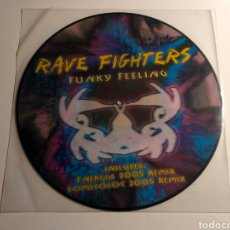 Discos de vinilo: RAVE FIGHTERS - FUNKY FEELING (PICTURE DISC). Lote 147461108