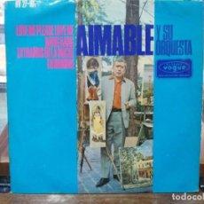 Discos de vinilo: AIMABLE Y SU ORQUESTA - LOVE ME PLEASE LOVE ME / BANG BANG - EP. DEL SELLO HISPAVOX 1966. Lote 147461518