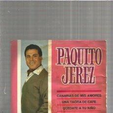 Discos de vinilo: PAQUITO JEREZ CANARIAS. Lote 147465698