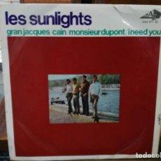 Discos de vinilo: LES SUNLIGHTS - GRAN JACQUES / CAIN - EP DEL SELLO HISPAVOX 1967. Lote 147465902
