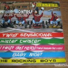 Discos de vinilo: THE ROCKING BOYS - TWIST DEL RELOJ + 3 ******** EP BELTER 1962 BUEN ESTADO. Lote 147466026