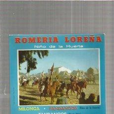 Discos de vinilo: NIÑO DE LA HUERTA ROMERIA LOREÑA. Lote 147468550