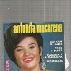 Discos de vinilo: ANTOÑITA MACARENA GAYARRE. Lote 147468914