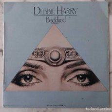 Discos de vinilo: DEBBIE HARRY. ( BLONDIE ). BACKFIRED. MAXI SINGLE ESPAÑA 2 TEMAS.. Lote 147469066