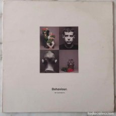 Discos de vinilo: PET SHOP BOYS. BEHAVIOR. LP ESPAÑA CON FUNDA INTERIOR CON CRÉDITOS. Lote 147469226