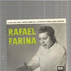 Discos de vinilo: RAFAEL FARINA EL CANTE ROSA. Lote 147470414