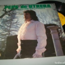 Discos de vinilo: PEPE DE UTRERA - LOS CANTES DE UTRERA ...LP DE 1977 - EUROMUSIC ... MUY RARO . Lote 147472838