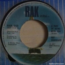 Discos de vinilo: HOT CHOCOLATE - SO YOU WIN AGAIN / A PART OF BEING WITH YOU - SINGLE UK 1977 - RAK. Lote 147488362
