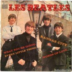 Discos de vinilo: LES BEATLES,RARO DISCO SINGLE DEL GRUPO,AÑO 1965,EDICION FRANCESA,CARATULA MUY DIFICIL EN ESPAÑA,POP. Lote 147497654